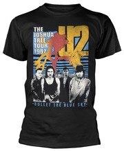 U2' Cielo' Bala O Azul Camisa de T dos homens Venda Quente de Verão T-shirt de Algodão de Manga Curta Tripulação Pescoço Tops