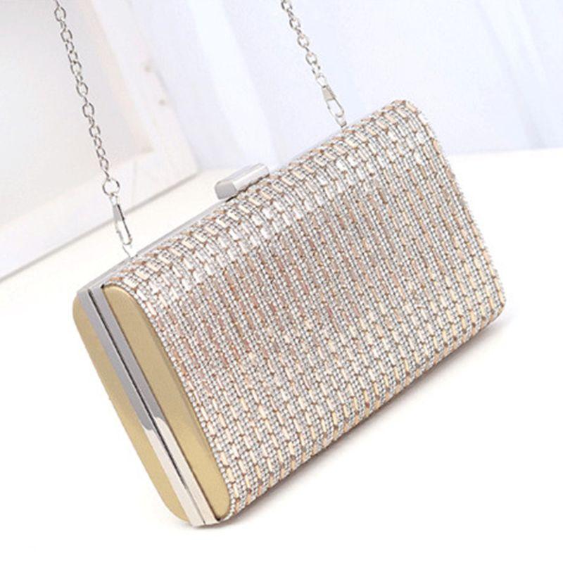Shoulder Womens Evening Bags Clutches Purse Chain Key Dress Handbags Lipstick Bridal