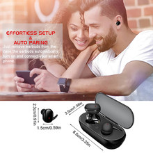 AmylingG TWS 5.0 Wireless Bluetooth Earphone Y30 Waterproof True Wireless Headphones Touch Control Earbuds with Charging Case(China)