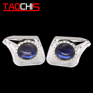 Image 3 - TAOCHIS YT140 3.0 inches bi xenon LED projector lens shroud DRL car headlights angel eyes white red blue yellow color