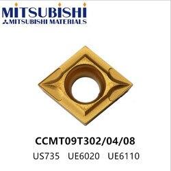 Mitsubishi CCMT09T304 wkładki z węglików spiekanych CCMT09T308 UE6020 US735 tokarka cnc uchwyt do toczenia SCLCR09 SCGCR wytaczadło CCMT09T3 w Narzędzia tokarskie od Narzędzia na