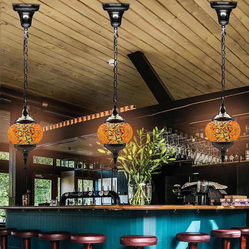 de lámpara colgante Tienda turca cristal CAFÉ hecho mano mosaico mediterránea con para estilo E14 Luz Artpad colgante Bar decoración a QBhxtrdosC