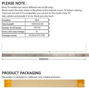 """Image 5 - LED bande de Rétro Éclairage 13 lampe Pour Samsung 50 """"TV UE50JU6800 V5DR_500SCA_R1 V5DR_500SCB_R1 CY TJ050HGNV2H UE50JU6850 BN96 38479A"""
