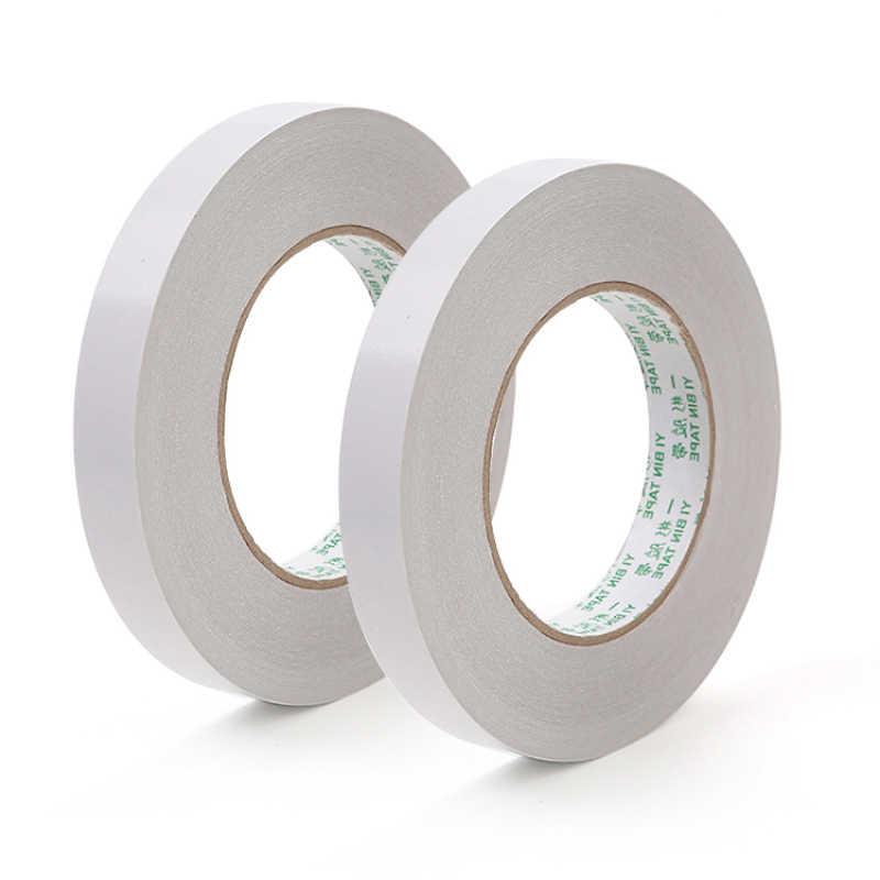 12 m 양면 접착 테이프 슈퍼 슬림 강한 접착 흰색 강력한 두 배는 학교 문구 사무실에 대한 접착제를 직면