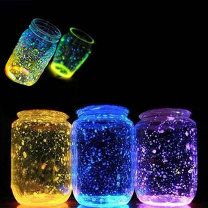 1 Bag Colorful Fluorescent Super luminous Particles Glow Pigment Bright Glow Sand Glow in the Dark Sand