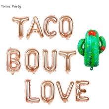 Ballons à tacos pour jumeaux, 16 pouces, or Rose, décorations de fête à thème, fête prénatale