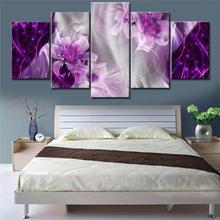 5 шт цветной постер с цветами bling modern wall art lilies цветы