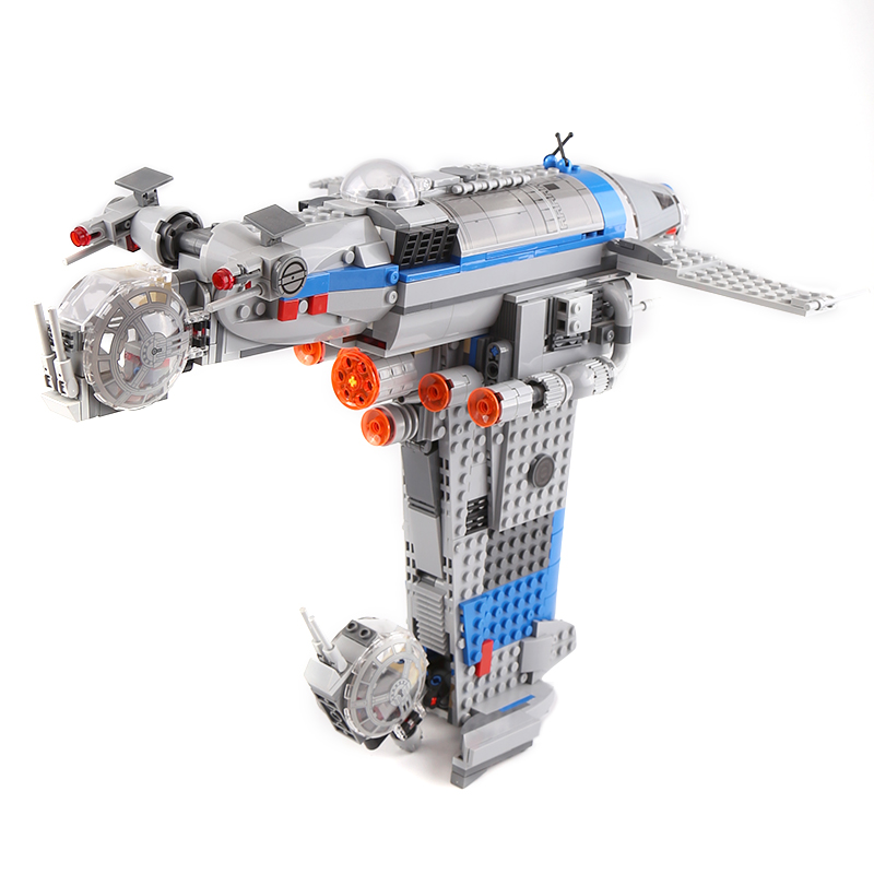 05129 Star Series Wars Building Block Rebel Resistance Bomber Kits Model Bricks Figures Diy Toys Compatible Legoes <font><b>75188</b></font> Gift image