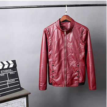 HCXY 2019 Men\'s Motorcycle Leather Jackets Men Autumn PU Leather Clothing Men Leather Jacket Male Business Upscale casual Coats