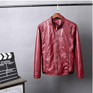 Image 3 - HCXY chaquetas de cuero para hombre, ropa de cuero PU para otoño, de negocios, informales, 2019