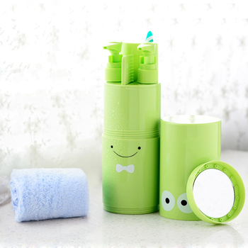 Travel tooth brush with Comb Toothpaste Towel Storage Boxes Toothbrush Holder Storage Portable Outdoor Tools portable tooth mug towel toothbrush toothpaste storage bottle holder w strap pink