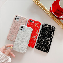 lace phone case iphone 6 6s 7 8 plus x xr xs max 11 pro max SF