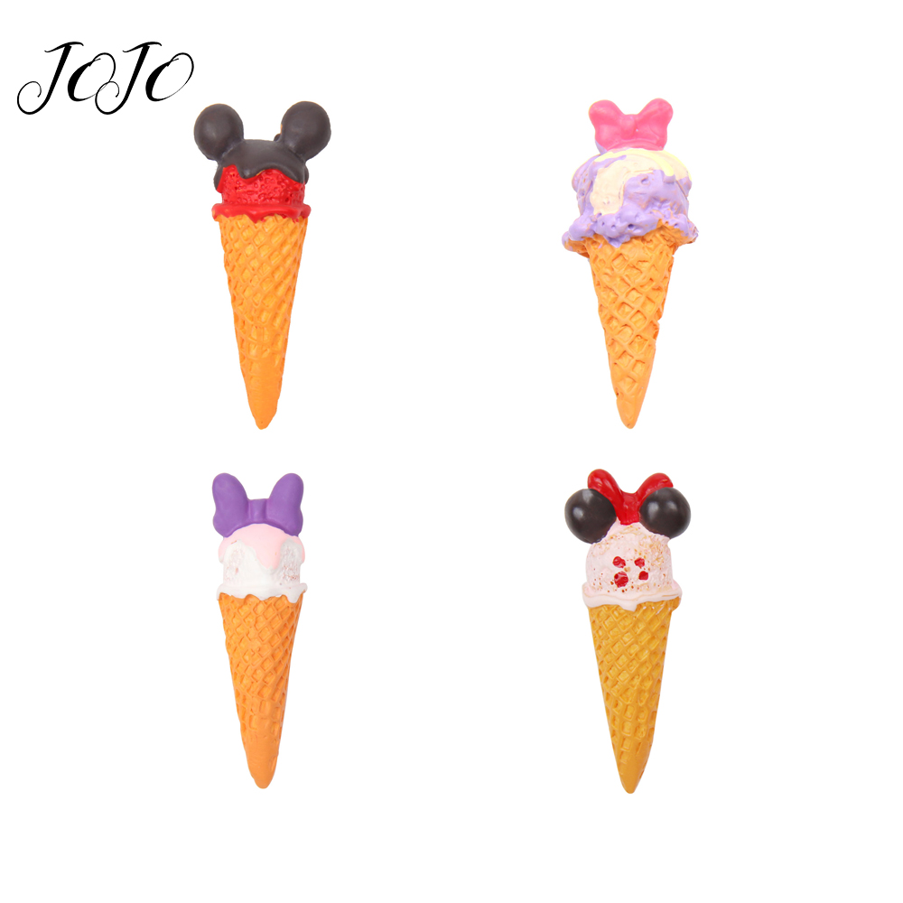 JOJO BOWS 4pcs Mickey Head Sweet Tube Resin Accessories For Hair Bows DIY Craft Supplies Handamde Toy Materials Hanging Ornament