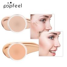 POPFEEL 5 Color Full Coverage Concealer Cover Up Makeup Conceal Dark Circles Acne Hydrating Natural Facial Primer Base