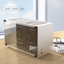 Aluminum Mini Computer Cases Gaming PC Chassis Mini ITX For ITX17x17cm Motherboard SFX Power Supply SSDX2