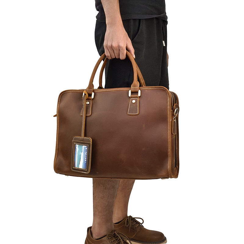 MAHEU Genuine Leather Laptop Briefcase 15.6 Inch Men Briefcase Work Tote Office Man Portfolio Business Bag Leather Attache Case