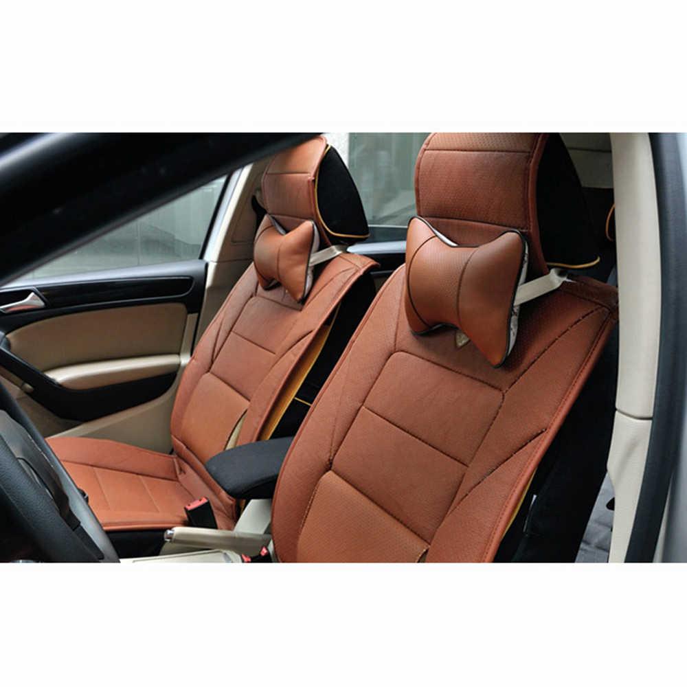 1pc maille respirante Auto voiture cou reste appui-tête coussin oreiller PVC cuir