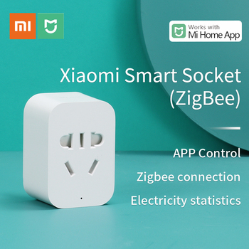 цена на Xiaomi Mi Socket ZigBee Version Mijia Smart Power Plug APP Remote Control Electricity statistics Detection work with Mi home APP