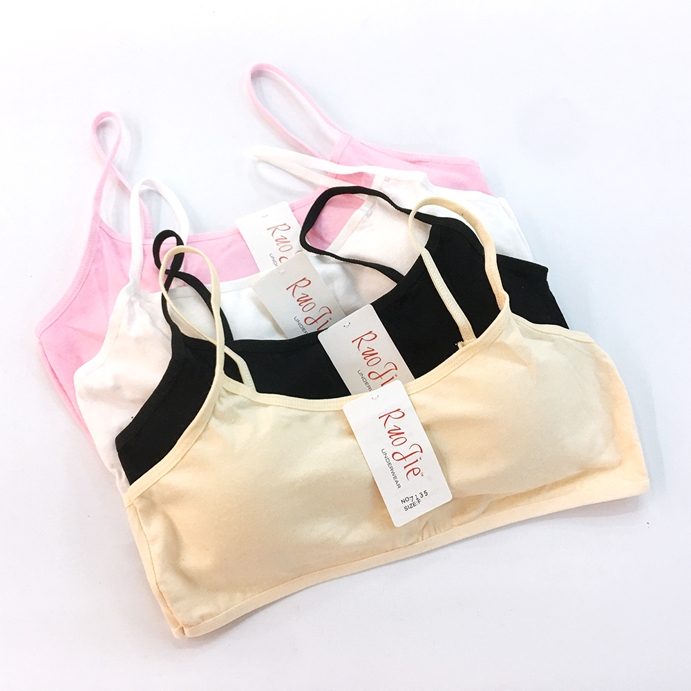 Girls Underwear Cotton Training Bras Teenage Sport Puberty Children Cup Bra Student Youth Small Breast Bra Girl Clothe 7135