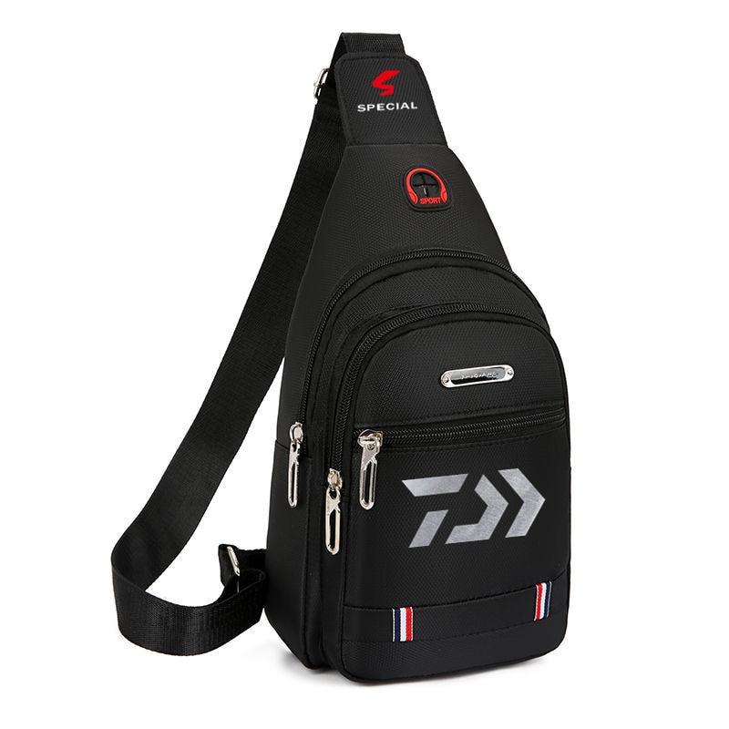 2020 Daiwa Fishing Backpack Waterproof Fishing Lures Reel Bag Straps Fish Tackle Bag Fishing Chest Pack Multi-pocket Tackle Bag