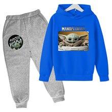 Toddler Yoda Mandaloo Boys and Girls Boutique Suit Costume Hoodie Pants Boutique Children's Wear Sweatshirt Suit