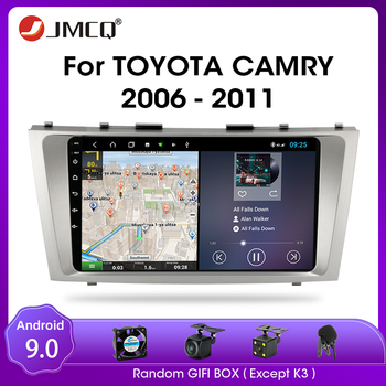 JMCQ Android 9.0 Car Radio For Toyota camry 7 XV 40 50 2006-2011 Multimidia Video 2 din RDS DSP 4+64G GPS Navigaion Split Screen image
