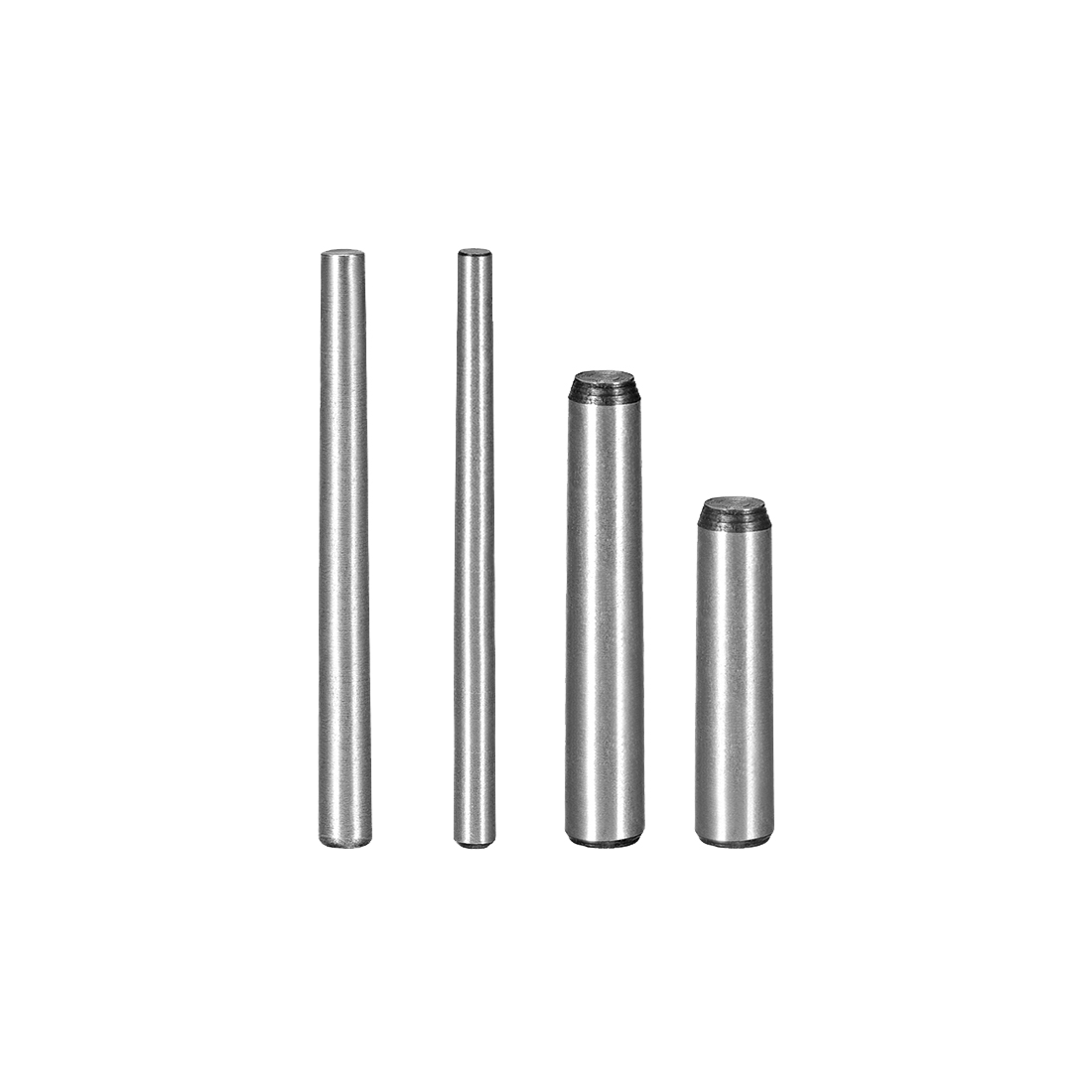 Uxcell 20Pcs 45# Carbon Steel GB117 40/45/50/55/60mm Length 3mm 4mm Small End Diameter 1:50 Taper Pin Fasteners
