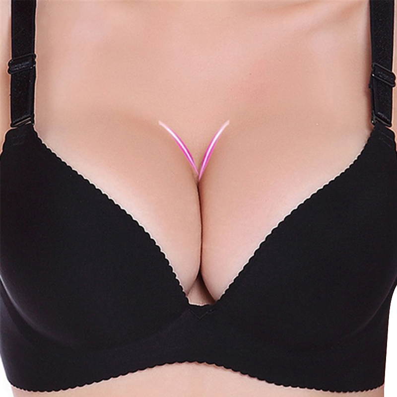 Sexy Deep U Cup Bras For Women Push Up Lingerie Seamless Bralette Backless Plunge Intimates Female Underwear 2021