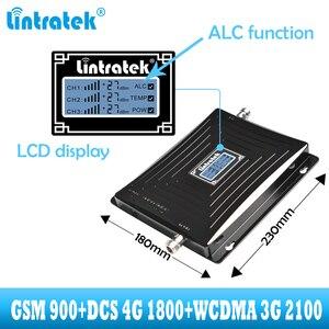 Image 3 - Lintratek araba kullanımı tekrarlayıcı Tri bant GSM 900 WCDMA 2100 LTE 1800 2G 3G 4G sinyal güçlendirici cep telefonu hücresel GSM amplifikatör araba