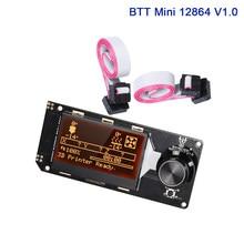 Bigtreetech btt mini 12864 v1.0 12864lcd display inteligente controlador 3d peças de impressora tela painel controle skr v1.4 turbo voron 2.4