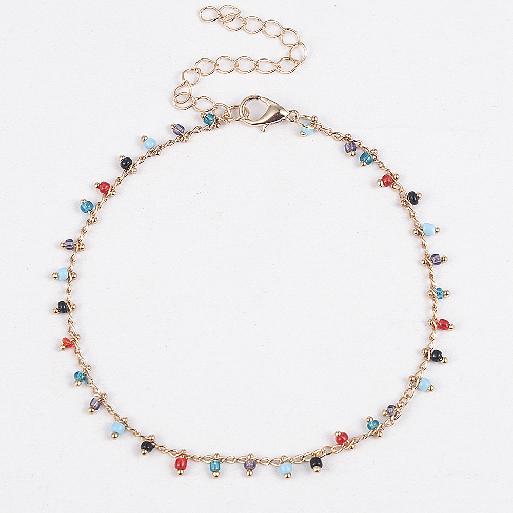 Simple Colorful Beads Anklets for Women Foot Accessories Summer Beach Barefoot Sandals Bracelet ankle on the leg Female Ankle 1