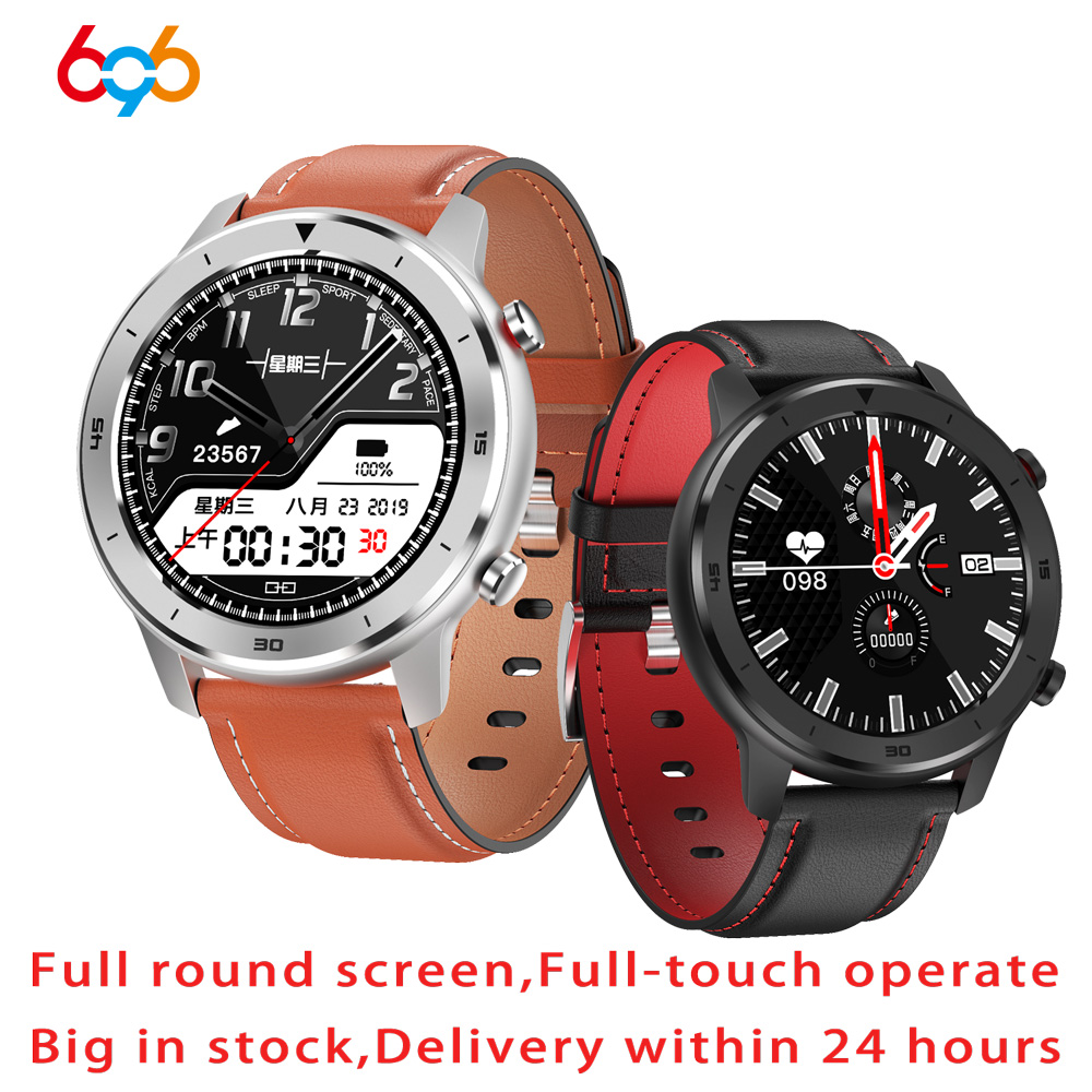 696 DT78 Smart Watch Men Women Smartwatch 1.3 inch Full Round Full Touch Screen Pedometer Heart Rate Monitor Smart Bracelet Band