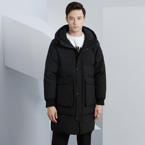 Image 3 - High quality Men Down Jacket Winter Long Hooded Parka overcoat Male Fashion 90% White Duck Down Coat Loose Thick warm Clothing
