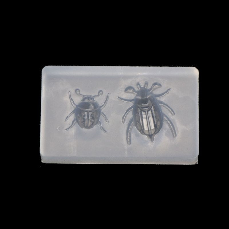 Cute Ladybug Beetle Pendant Insect Resin Silicone Mold Jewelry Making Tools