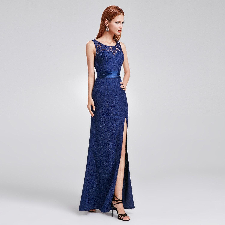Купить с кэшбэком It's Yiiya Bridesmaid Dress for Girls Mermaid Backless Floor-Length Plus Size Bridesmaid Dress Lace Vestido Madrinha C485