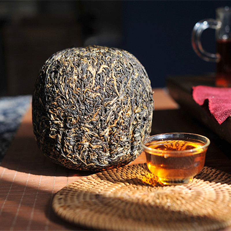 2018 Gold Buds Dian Hong Yunnan Black Tea Feng Qing Golden Melon Tuocha Dianhong 500g