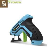 Youpin Tonfon اللاسلكية صمغ يسيح بالحرارة بندقية عصا الصناعية البنادق الصغيرة الحرارية الكهربائية الحرارة درجة الحرارة أداة ل 7 مللي متر قطر