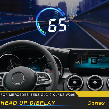 Car HUD Head-Up Display Overspeed Warning Windshield Projector Alarm System for Mercedes Benz C Class W205 2016-2019