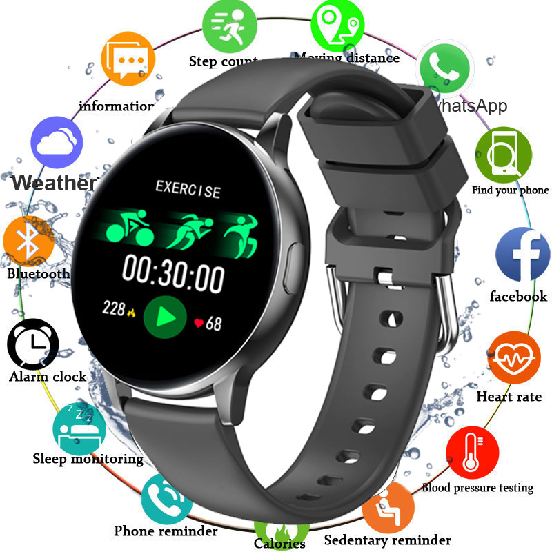 Smart Watch Men Blood Pressure Full Touch Smartwatch Women Waterproof Heart Rate Monitor Fitness Tracker Watch For Android IOS|Smart Watches| - AliExpress