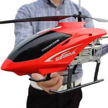 3.5CH 80cm Super Large remote control aircraft anti-fall rc helicopter charging toy drone