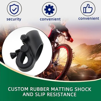 2020 Hot Sale Useful Cycling Grip Mount Bike Clamp Clip Bicycle Flashlight LED Torch Light Holder image