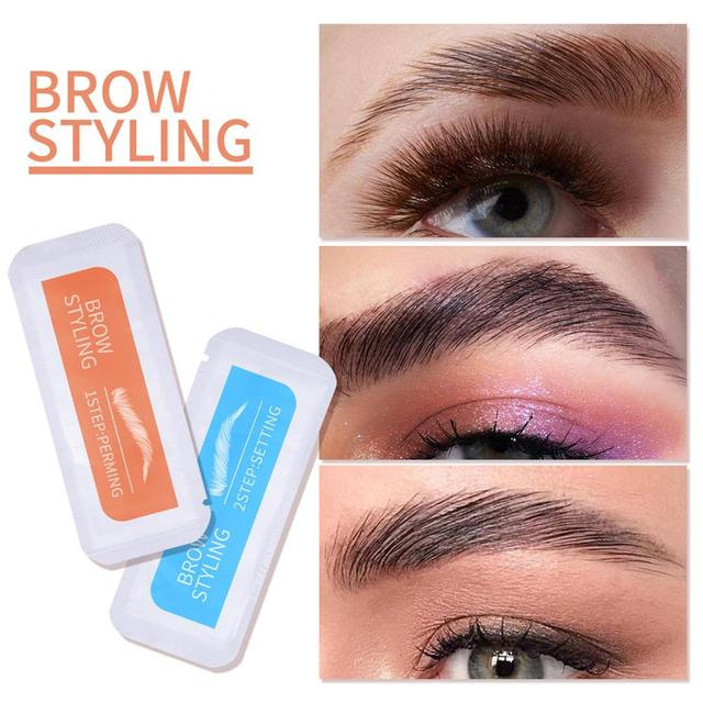 2Pcs Keratin Brow Lamination Kit Brows Lift Perming Kit Long Lasting Eyebrow Lifting Makeup Set Eyebrow Dye Setting Gel 5