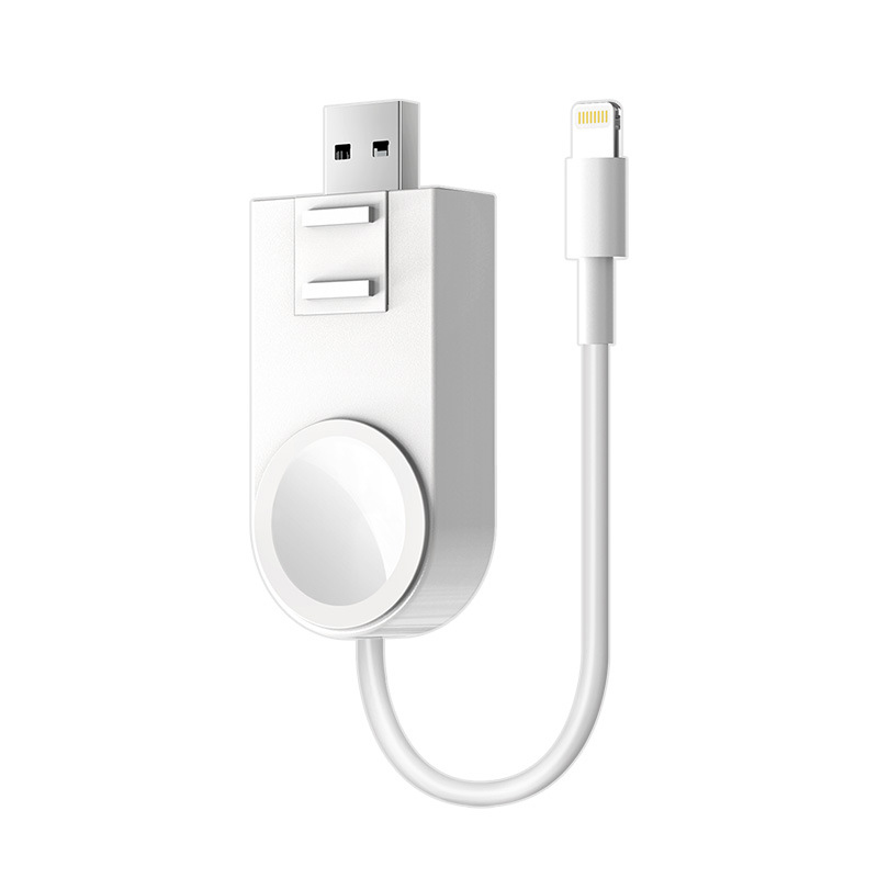 less Charger for Apple Watch Portable Magnetic for Apple iWatch Series 5 4 3 2 1 iPhone XS XR 7 8 11 Plus USB cable Airpods.