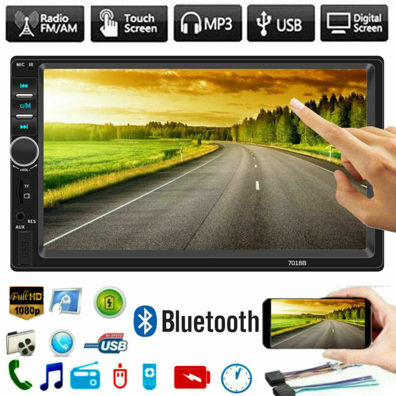 2 Din Car Stereo 7 HD Car Radio Bluetooth FM Audio MP5 Player 2Din Autoradio Support Rear View Camera <font><b>7018B</b></font> Radio Car image