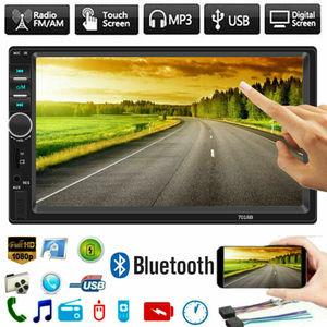 2 Din Car Stereo 7 HD Car Radio Bluetooth FM Audio MP5 Player 2Din Autoradio Support Rear View Camera 7018B Radio Car