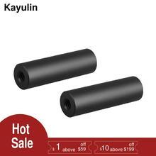 """Kayulin 2 """"מיקרו מוט (אלומיניום) עם פעמיים הסתיימו 1/4"""" 20 נשי אשכולות עבור Dslr מצלמה אבזר תמונה סטודיו (2 חתיכות)"""
