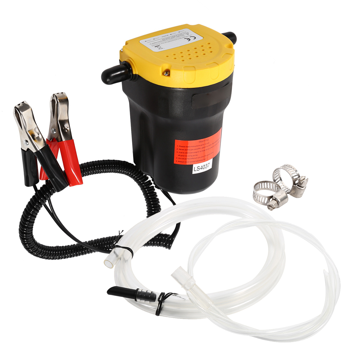 12V Diesel Oil Fluid Transfer Extractor Pump 60W Electric Diesel Fluid Extractor Transfer Suction Pump For Car Motorcycle Boat