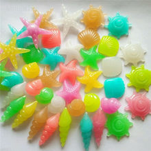 5/10/20pcs Colorful Luminous Starfish Conch Shell Shaped Glowing Stones Decorative For Garden Aquarium Fish Tank Pool Landscape(China)