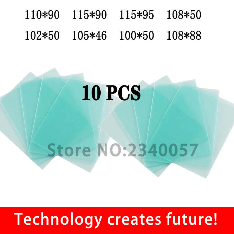 10Pcs Welding Helmet PC Clear Lens Cover Replacement Protective Plate 115*90mm