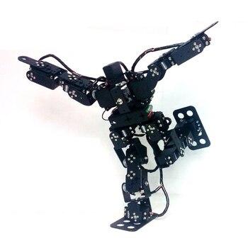 15 Dof Humanoid Dance Robot / Metal Building Block Bipedal Walking Teaching Diy Kit for Arduino STEM Toy